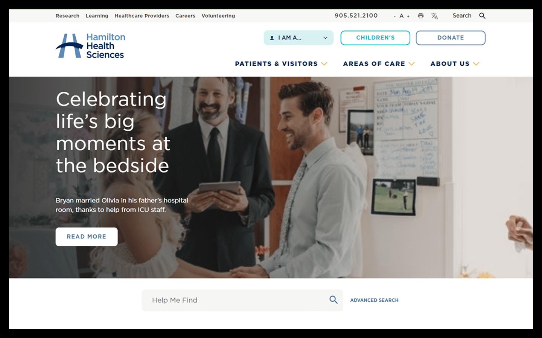 HHS Website Screenshot
