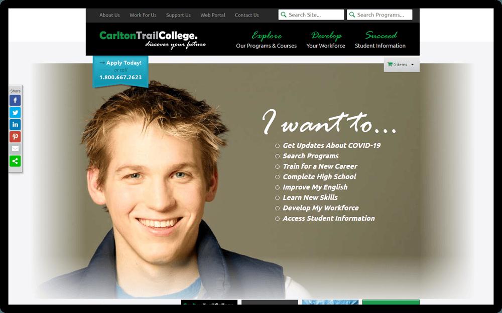 Carlton Trail College Homepage