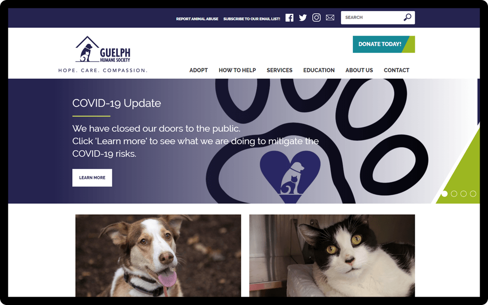 Guelph Humane Society Homepage