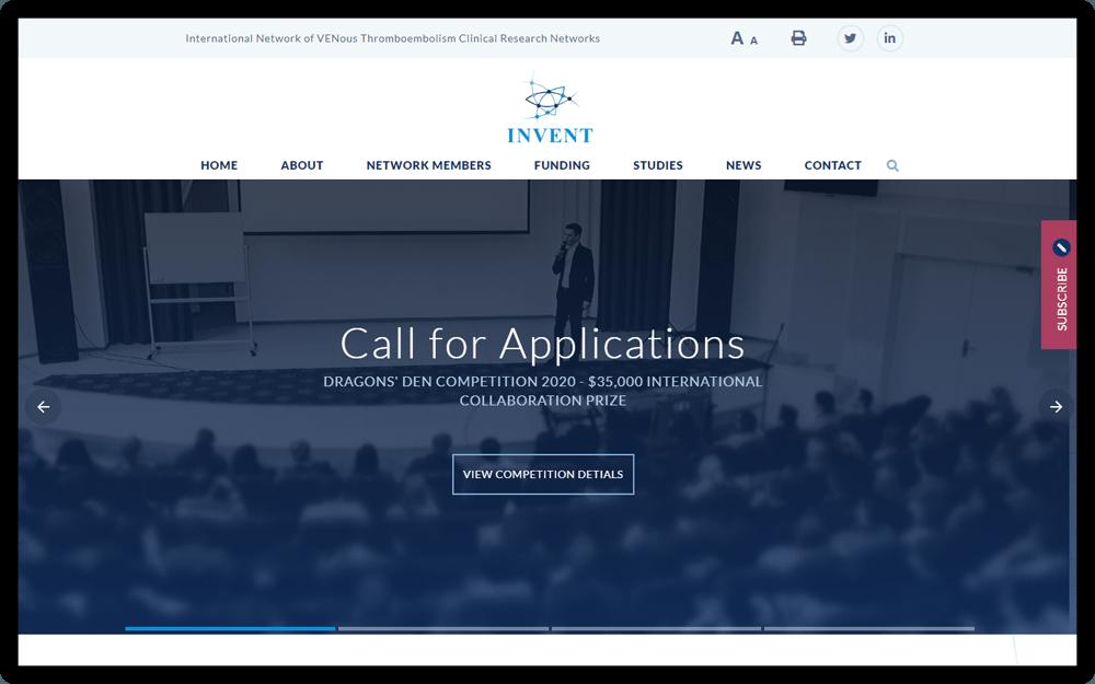 Invent vte homepage