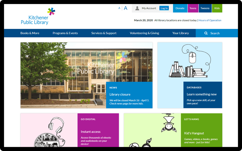 Kitchener Public Library Homepage