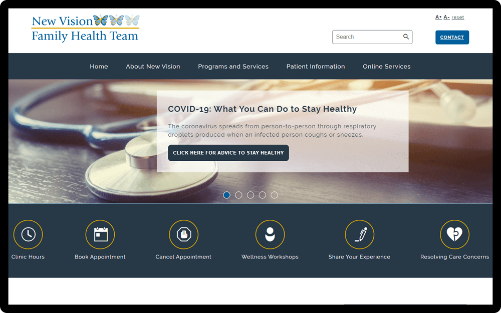 New Vision Family Health Team Homepage