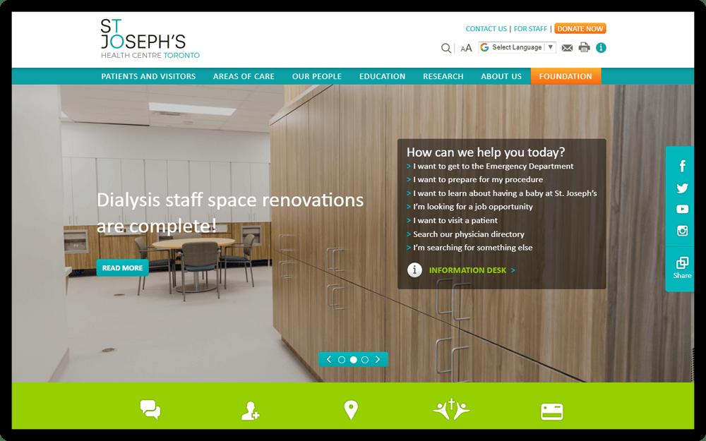 St Joseph's Health Centre Toronto Homepage