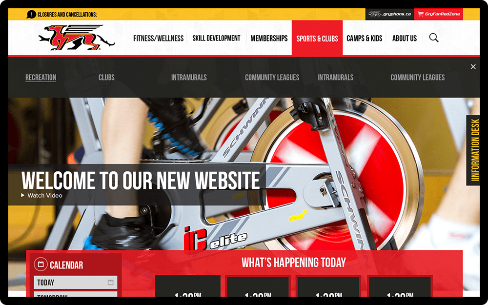 University of Guelph Fitness and Recreation Homepage
