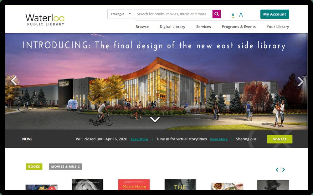 Waterloo Public Library Homepage