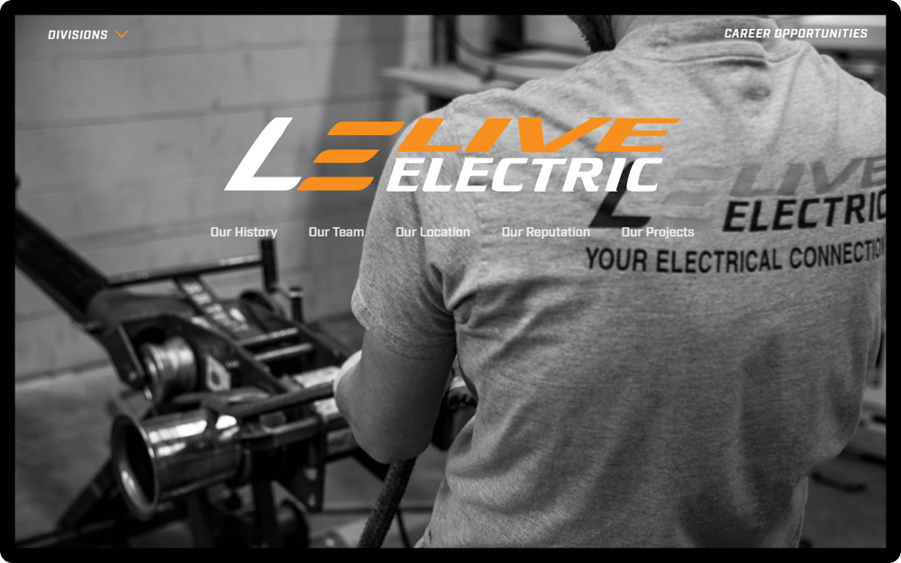 Live Electric Homepage