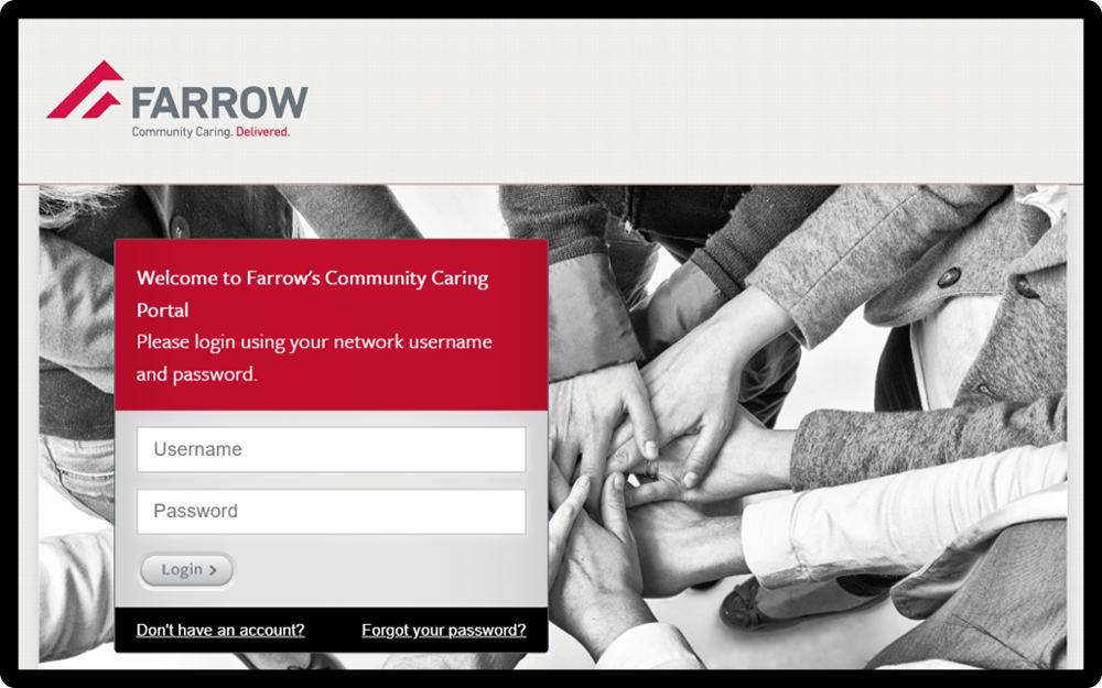 Farrow Volunteer Portal