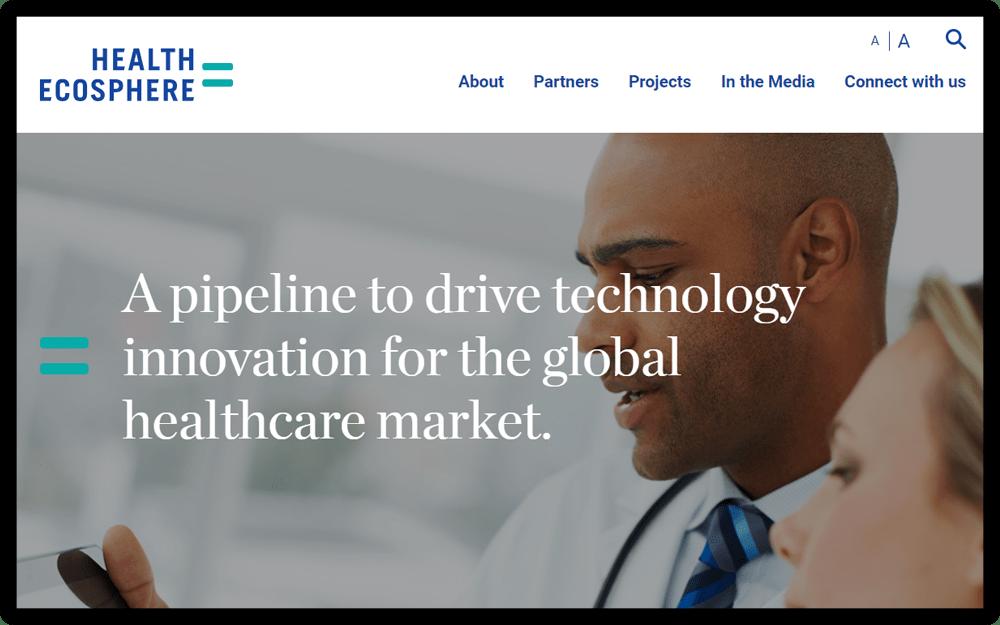 Health-Ecosphere Homescreen