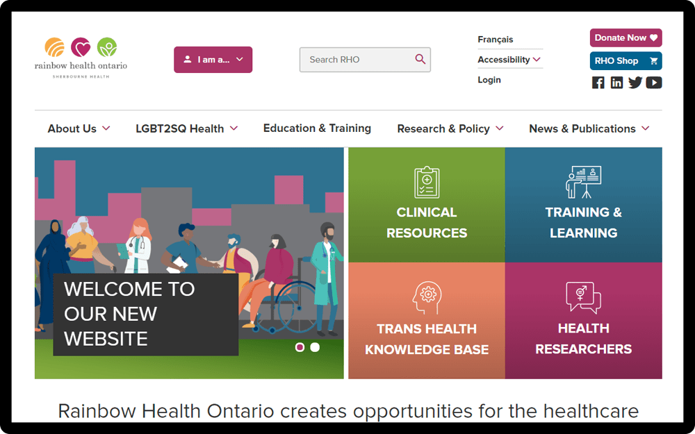 Rainbow Health Ontario Homepage